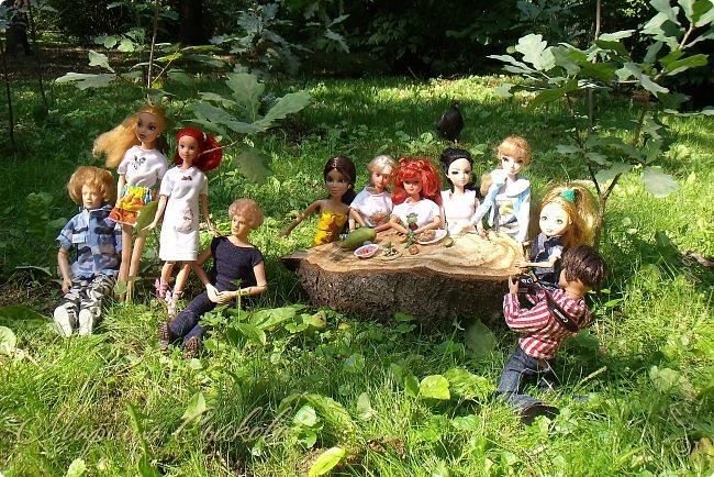 1 августа мы провели первую кукло-встречу . Встречались мои куклы и дочины с куклами Татьяны и Ксюши Воробьевых  фото 24