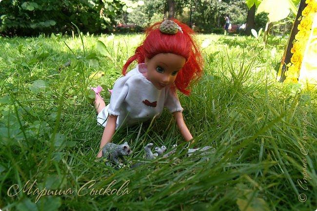 1 августа мы провели первую кукло-встречу . Встречались мои куклы и дочины с куклами Татьяны и Ксюши Воробьевых  фото 25