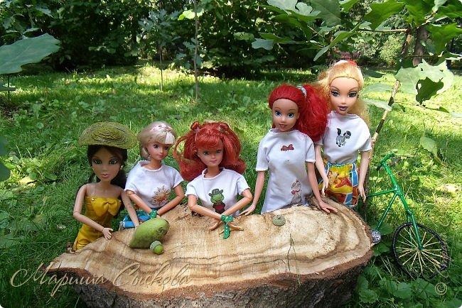 1 августа мы провели первую кукло-встречу . Встречались мои куклы и дочины с куклами Татьяны и Ксюши Воробьевых  фото 26