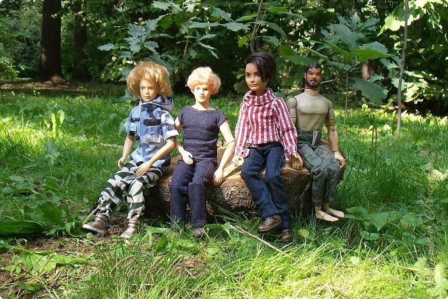 1 августа мы провели первую кукло-встречу . Встречались мои куклы и дочины с куклами Татьяны и Ксюши Воробьевых  фото 28