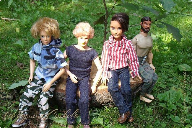 1 августа мы провели первую кукло-встречу . Встречались мои куклы и дочины с куклами Татьяны и Ксюши Воробьевых  фото 29