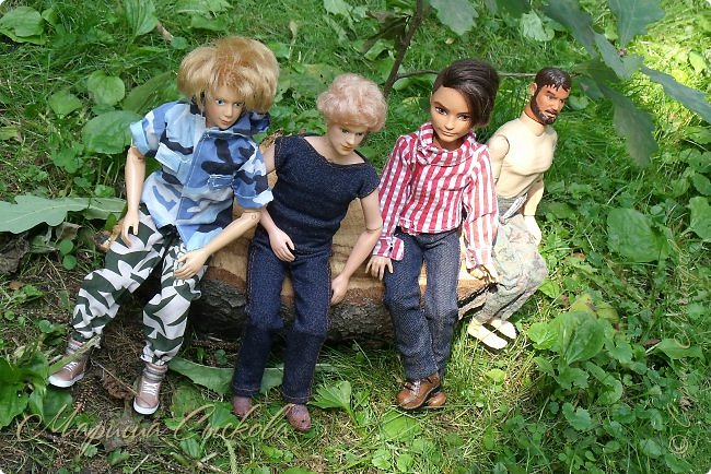 1 августа мы провели первую кукло-встречу . Встречались мои куклы и дочины с куклами Татьяны и Ксюши Воробьевых  фото 30