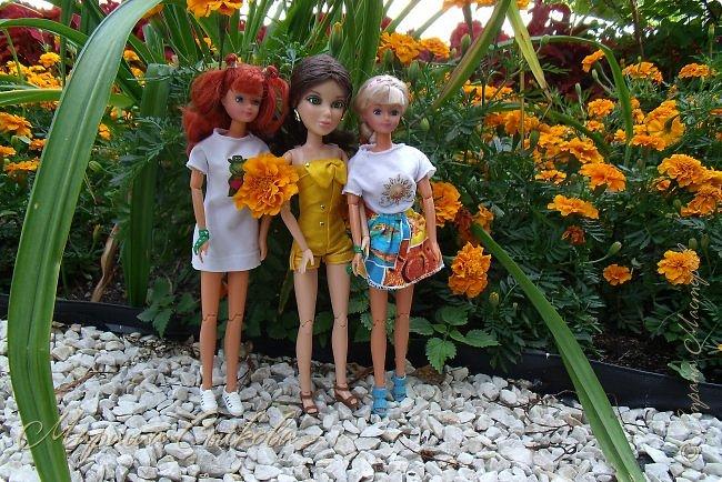 1 августа мы провели первую кукло-встречу . Встречались мои куклы и дочины с куклами Татьяны и Ксюши Воробьевых  фото 34