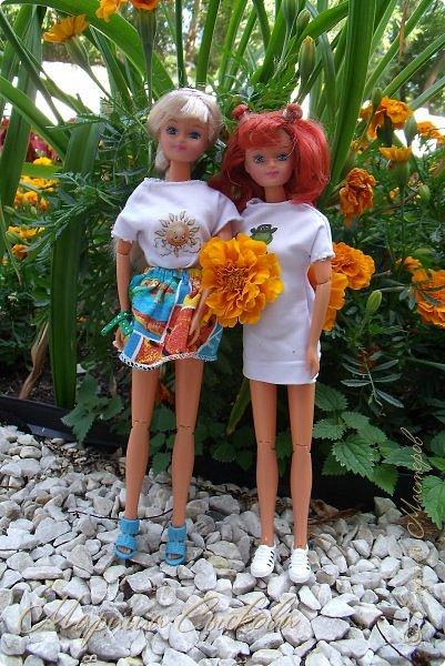 1 августа мы провели первую кукло-встречу . Встречались мои куклы и дочины с куклами Татьяны и Ксюши Воробьевых  фото 35