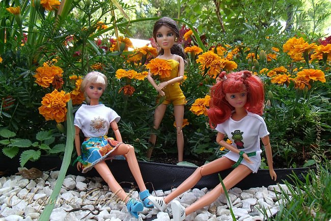 1 августа мы провели первую кукло-встречу . Встречались мои куклы и дочины с куклами Татьяны и Ксюши Воробьевых  фото 37