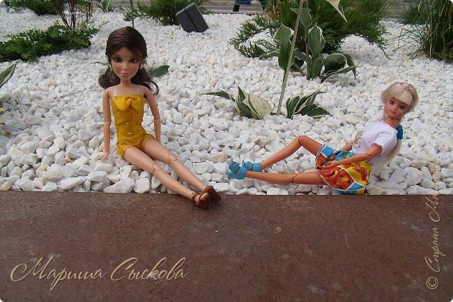 1 августа мы провели первую кукло-встречу . Встречались мои куклы и дочины с куклами Татьяны и Ксюши Воробьевых  фото 42