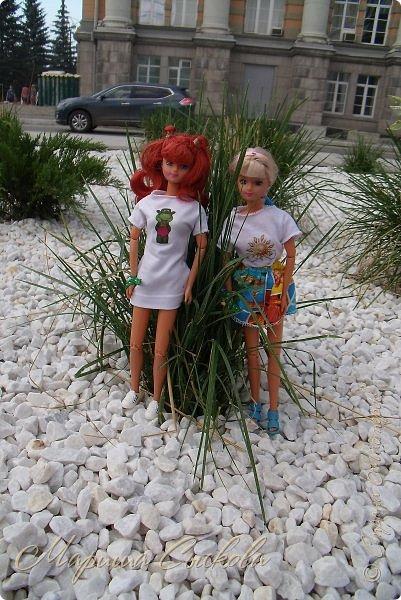 1 августа мы провели первую кукло-встречу . Встречались мои куклы и дочины с куклами Татьяны и Ксюши Воробьевых  фото 43