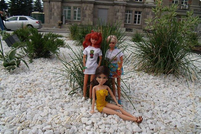 1 августа мы провели первую кукло-встречу . Встречались мои куклы и дочины с куклами Татьяны и Ксюши Воробьевых  фото 44