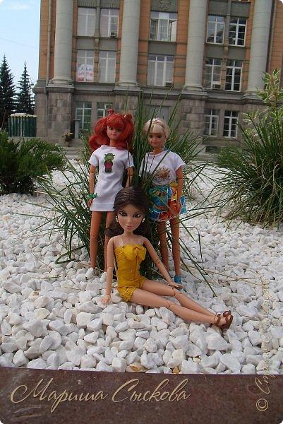 1 августа мы провели первую кукло-встречу . Встречались мои куклы и дочины с куклами Татьяны и Ксюши Воробьевых  фото 45