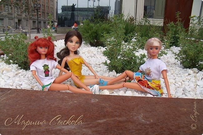 1 августа мы провели первую кукло-встречу . Встречались мои куклы и дочины с куклами Татьяны и Ксюши Воробьевых  фото 46