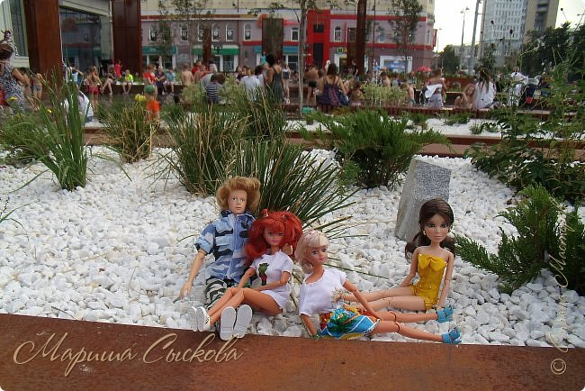 1 августа мы провели первую кукло-встречу . Встречались мои куклы и дочины с куклами Татьяны и Ксюши Воробьевых  фото 48