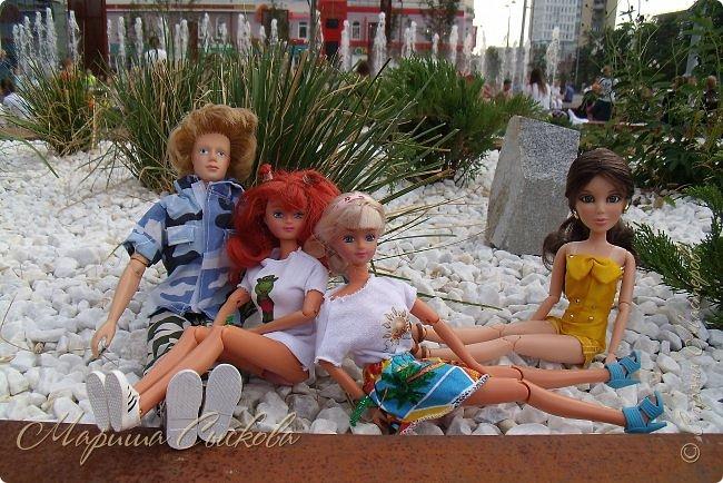 1 августа мы провели первую кукло-встречу . Встречались мои куклы и дочины с куклами Татьяны и Ксюши Воробьевых  фото 49