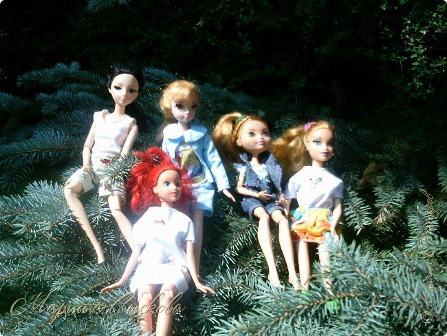 1 августа мы провели первую кукло-встречу . Встречались мои куклы и дочины с куклами Татьяны и Ксюши Воробьевых  фото 51