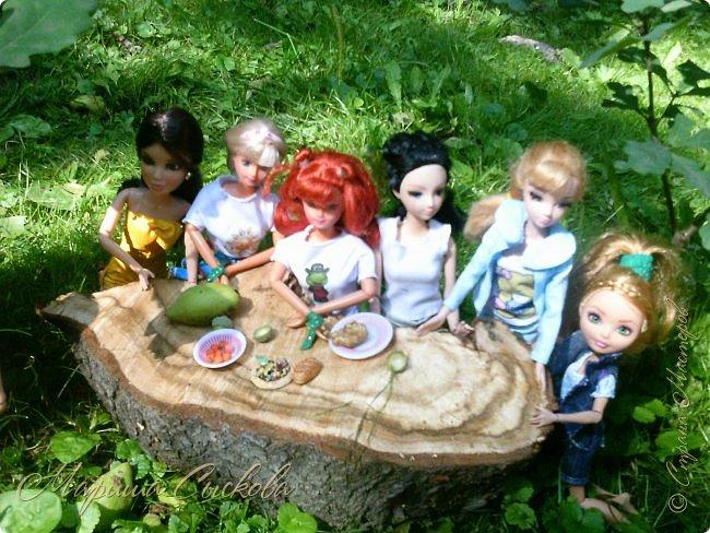 1 августа мы провели первую кукло-встречу . Встречались мои куклы и дочины с куклами Татьяны и Ксюши Воробьевых  фото 55