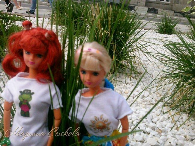 1 августа мы провели первую кукло-встречу . Встречались мои куклы и дочины с куклами Татьяны и Ксюши Воробьевых  фото 57