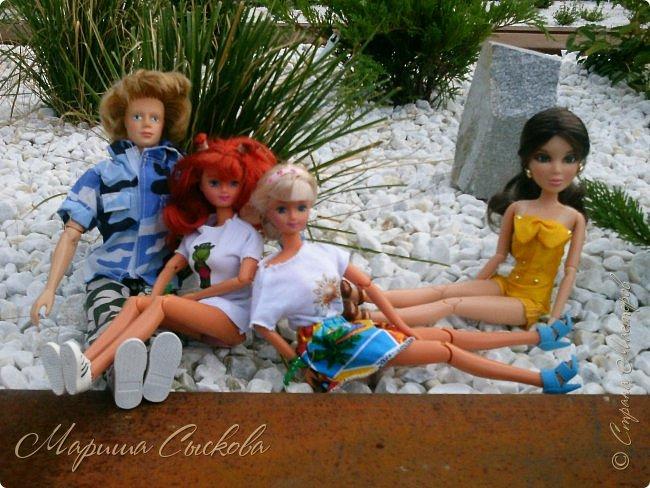 1 августа мы провели первую кукло-встречу . Встречались мои куклы и дочины с куклами Татьяны и Ксюши Воробьевых  фото 58