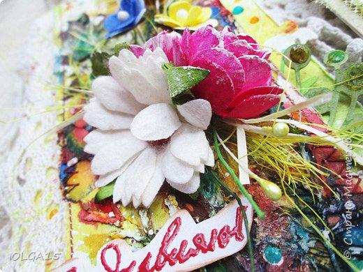 Добрый день, жители Страны Мастеров! Пока продолжается мой отпуск сделала ещё одну летнюю открытку. Август месяц у моих друзей и близких богат на дни рождения, это ли не повод для творчества, открытка прекрасное дополнение к подарку. фото 5