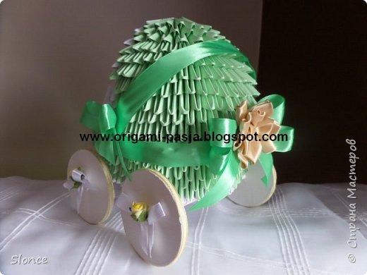 Wózek wykonany techniką origami 3d, modułowe. фото 2