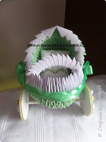 Wózek wykonany techniką origami 3d, modułowe. фото 3