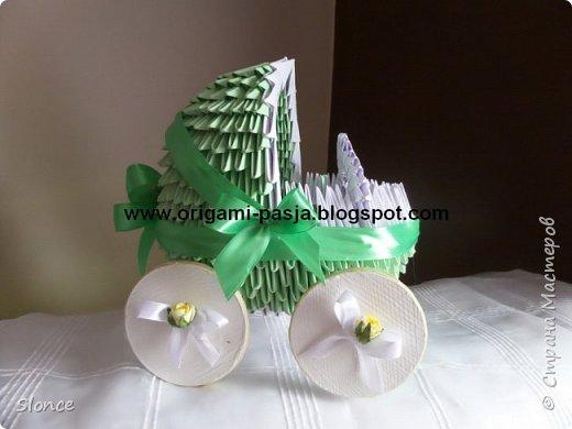 Wózek wykonany techniką origami 3d, modułowe. фото 1