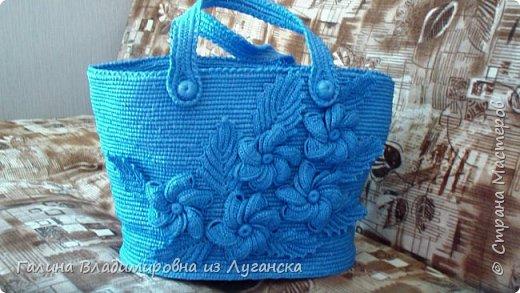 """Добрый день творческие люди """"Страны мастеров""""!!!!! Очень скучала. Давно не была и вот предлагаю новую свою сумочку из полиэтиленовых пакетов!!!!  фото 6"""