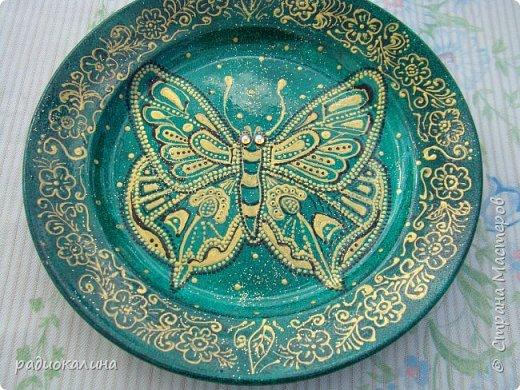 Тарелки и точечная роспись фото 8