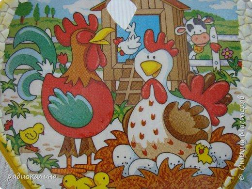 """Кухонная доска """"Ромашки за окошком"""" -декупаж и небольшая роспись кружевных занавесок, такие у моей бабушки на окошках висели. фото 5"""