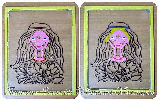 """""""Цветы для Мамочки"""" (обратная аппликация пластилином). Работа для конкурса к Дню Матери, выполненная одним из наших воспитанников. фото 4"""