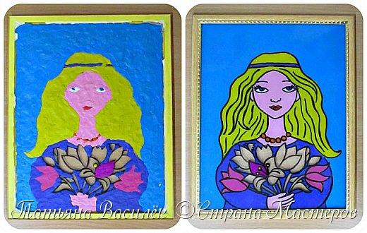 """""""Цветы для Мамочки"""" (обратная аппликация пластилином). Работа для конкурса к Дню Матери, выполненная одним из наших воспитанников. фото 8"""