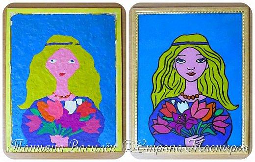 """""""Цветы для Мамочки"""" (обратная аппликация пластилином). Работа для конкурса к Дню Матери, выполненная одним из наших воспитанников. фото 9"""