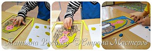 """""""Цветы для Мамочки"""" (обратная аппликация пластилином). Работа для конкурса к Дню Матери, выполненная одним из наших воспитанников. фото 10"""