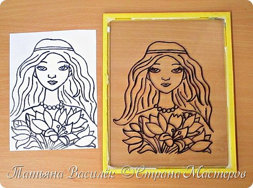 """""""Цветы для Мамочки"""" (обратная аппликация пластилином). Работа для конкурса к Дню Матери, выполненная одним из наших воспитанников. фото 3"""