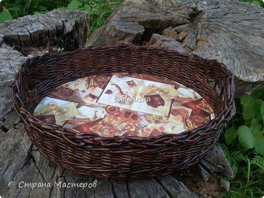 Добрый день всем!  Заглянула я к вам со своей скромной корзинкой для хлеба. Для меня очень удобная вещь, хлебушек помещается целиком. Размером в длину 35 см, в высоту  12 см, фото 2