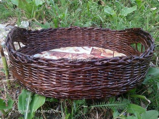 Добрый день всем!  Заглянула я к вам со своей скромной корзинкой для хлеба. Для меня очень удобная вещь, хлебушек помещается целиком. Размером в длину 35 см, в высоту  12 см, фото 3