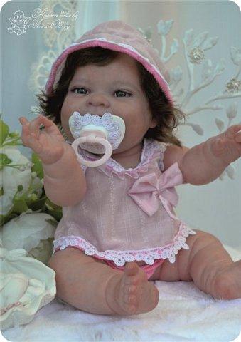 """Здравствуйте девочки-мастерицы! В моей мастерской """"родилась"""" малышка Лёлечка, выполнена на заказ. Сегодня уехала к """"мамочке"""" в Зеленоград. Рост куколки 35см, вес около 1 кг. Волосики-натуральный мохер, вживлены. Роспись красками генезис. фото 28"""