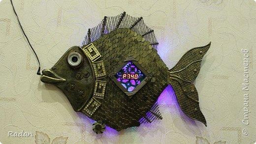 """Часы - рыба в стиле """"стимпанк"""""""