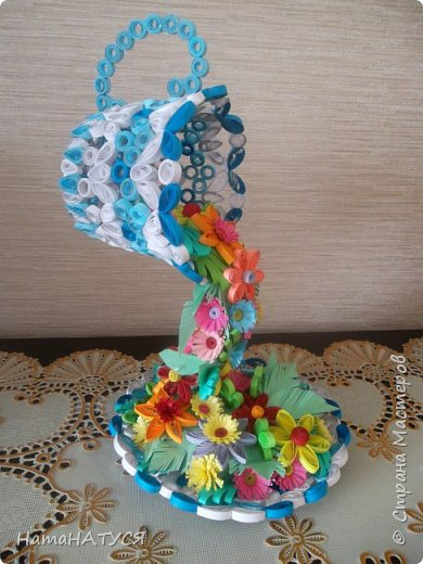 Добрый день всем!!! Вдохновившись работой Наташи Орловой (http://stranamasterov.ru/node/956568?c=favorite), я тоже решила создать такую цветочную чай-паузу. Далее поэтапный фотоотчёт. фото 9
