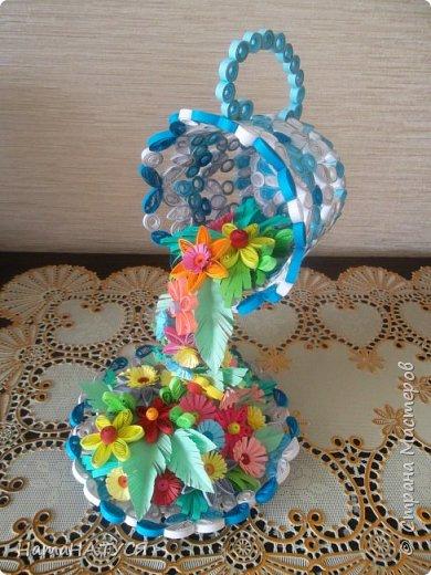 Добрый день всем!!! Вдохновившись работой Наташи Орловой (http://stranamasterov.ru/node/956568?c=favorite), я тоже решила создать такую цветочную чай-паузу. Далее поэтапный фотоотчёт. фото 11