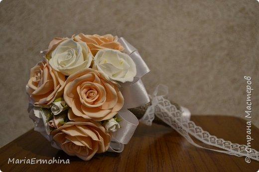 Вот и сделала я самый главный заказ в своей жизни))) Аксессуары к нашей свадьбе!!!  1. Букет-дублер фото 1