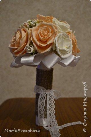 Вот и сделала я самый главный заказ в своей жизни))) Аксессуары к нашей свадьбе!!!  1. Букет-дублер фото 2