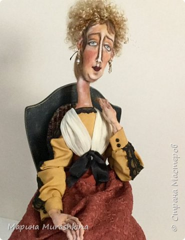 Вторая из трех запланированных кукол по портретам Модильяни - 'Блондинка с серьгами' фото 1