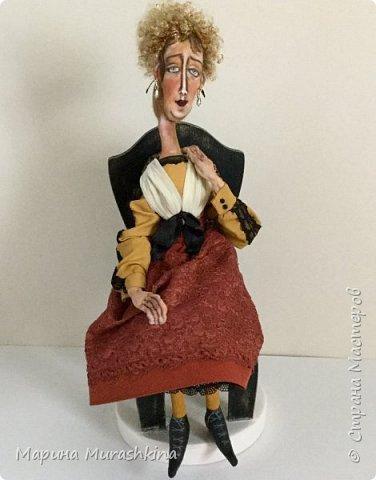 Вторая из трех запланированных кукол по портретам Модильяни - 'Блондинка с серьгами' фото 2