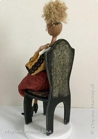 Вторая из трех запланированных кукол по портретам Модильяни - 'Блондинка с серьгами' фото 3