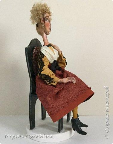 Вторая из трех запланированных кукол по портретам Модильяни - 'Блондинка с серьгами' фото 4