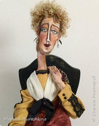 Вторая из трех запланированных кукол по портретам Модильяни - 'Блондинка с серьгами' фото 5