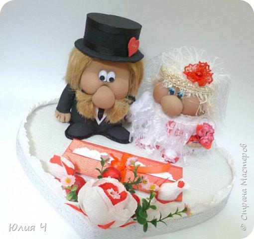 Здравствуйте,  дорогие друзья! Заглядываю в страну редко, но всегда с большим удовольствием! Поженила я таки гномиков. Кто еще не видел Дашин МК по гномикам, то Вам сюда http://stranamasterov.ru/node/701116?c=favorite   Нужно было на свадьбу не самое серьезное 3D оформление денежного подарка.... фото 2