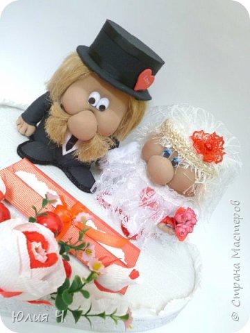 Здравствуйте,  дорогие друзья! Заглядываю в страну редко, но всегда с большим удовольствием! Поженила я таки гномиков. Кто еще не видел Дашин МК по гномикам, то Вам сюда http://stranamasterov.ru/node/701116?c=favorite   Нужно было на свадьбу не самое серьезное 3D оформление денежного подарка.... фото 4