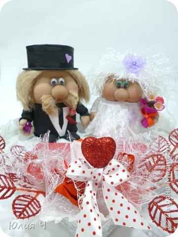 Здравствуйте,  дорогие друзья! Заглядываю в страну редко, но всегда с большим удовольствием! Поженила я таки гномиков. Кто еще не видел Дашин МК по гномикам, то Вам сюда http://stranamasterov.ru/node/701116?c=favorite   Нужно было на свадьбу не самое серьезное 3D оформление денежного подарка.... фото 6