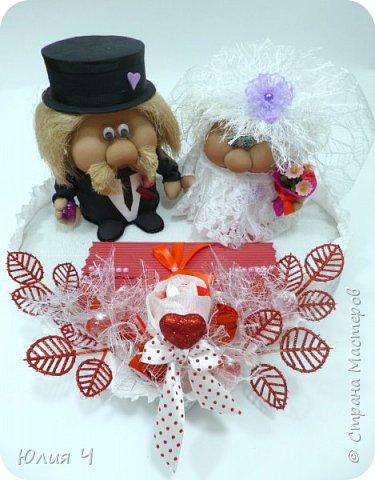 Здравствуйте,  дорогие друзья! Заглядываю в страну редко, но всегда с большим удовольствием! Поженила я таки гномиков. Кто еще не видел Дашин МК по гномикам, то Вам сюда http://stranamasterov.ru/node/701116?c=favorite   Нужно было на свадьбу не самое серьезное 3D оформление денежного подарка.... фото 5