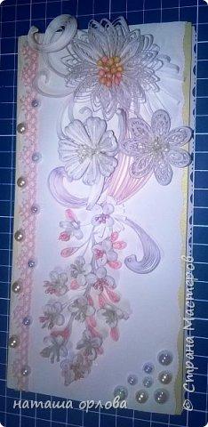 """Доброго времени уважаемые мастера и мастерицы, моей любимой """" Страны мастеров"""". Представляю на ваш суд сою новую открытку.  Задумана открытка как поздравление к дню рождения. Очень хочется узнать мнение со стороны. Как вы думаете уместна-ли эта  открытка для поздравления к дню рождения ? подойдёт-ли ? Может приберечь к другому событию?  В данной работе использовала тычинки для цветов собственного изготовления. фото 6"""